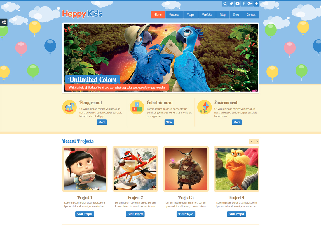 Happy Kids | Children WordPress Theme