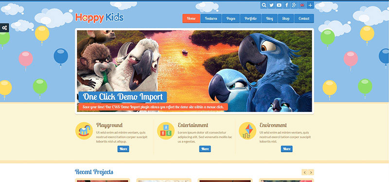 Happy Kids - Children WordPress Theme