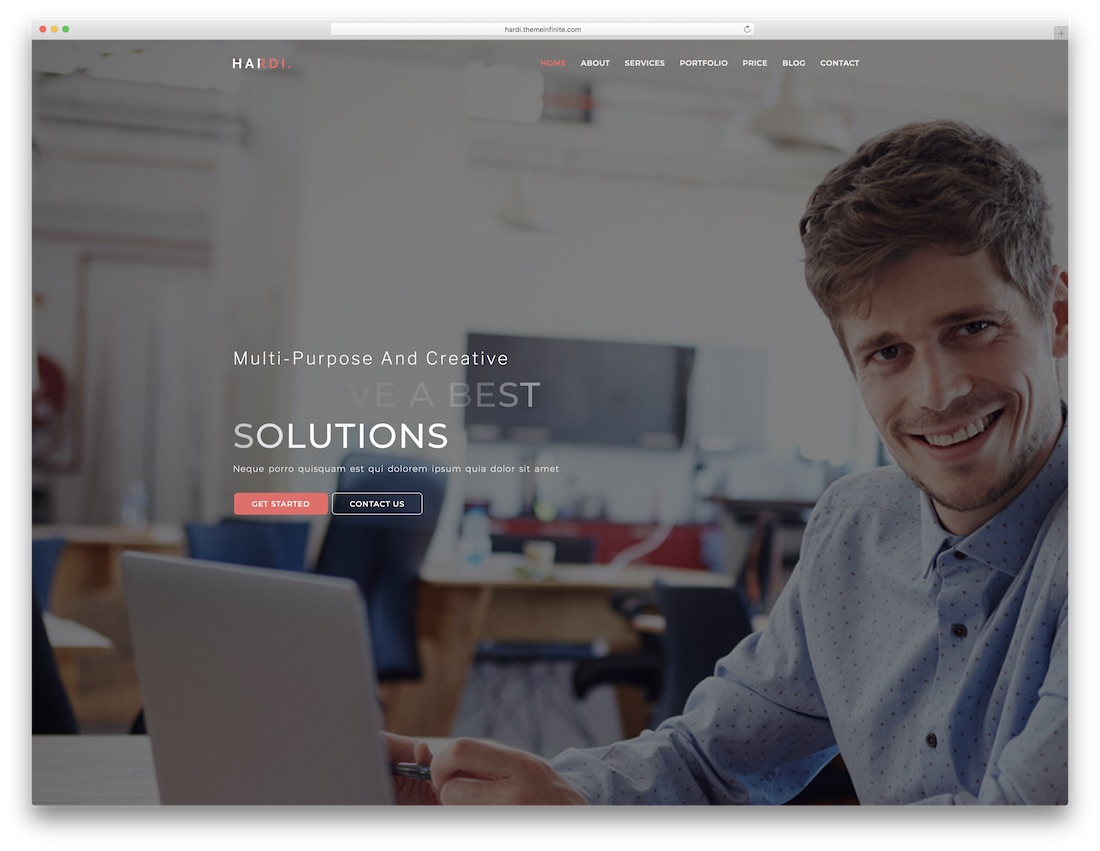 hardi bootstrap website template