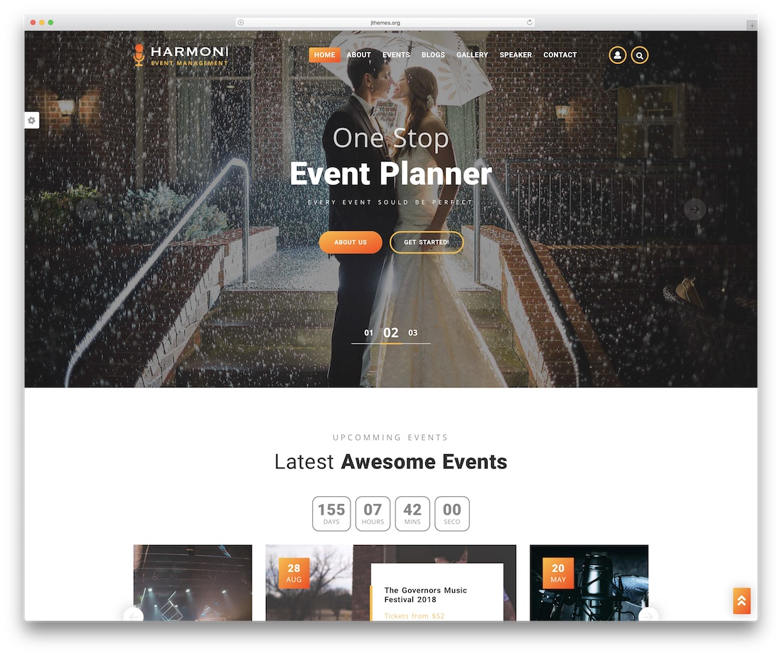 harmoni event website template