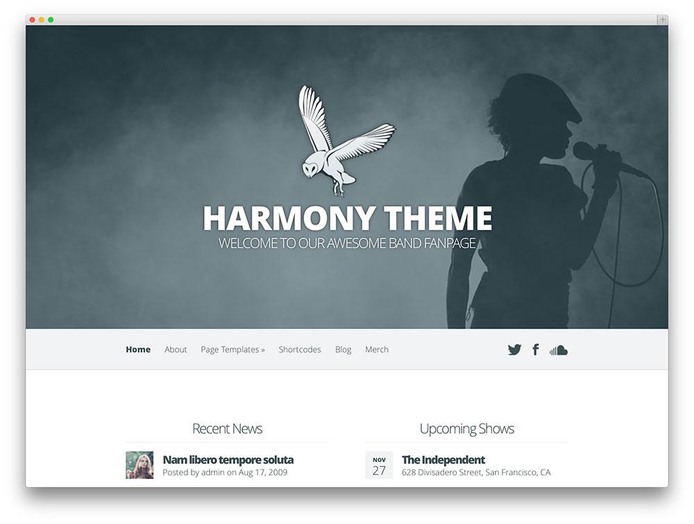 Harmonia - tema de música Avançado