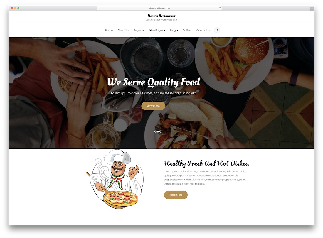 hasten catering wordpress theme