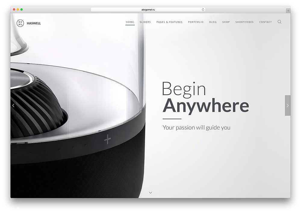 haswell product design marketing html site template - Sample Industrial Design Er