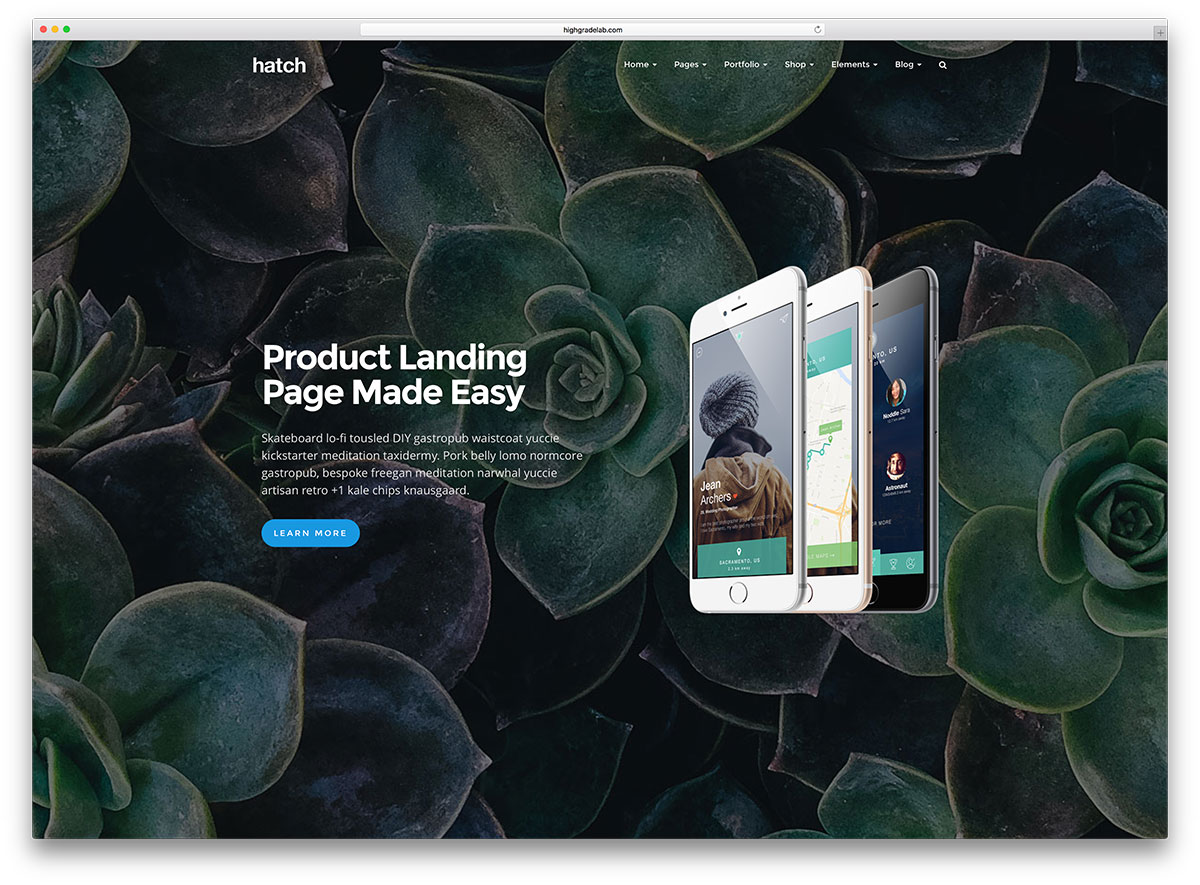 hatch-awesome-parallax-landing-page-theme