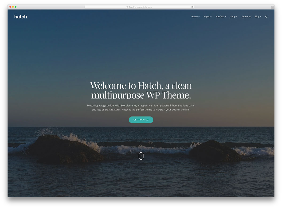 hatch-creative-parallax-wordpress-business-template