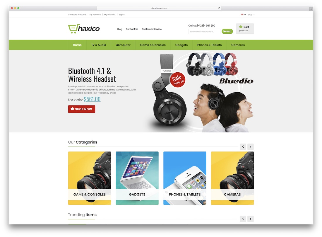 haxico magento technology theme