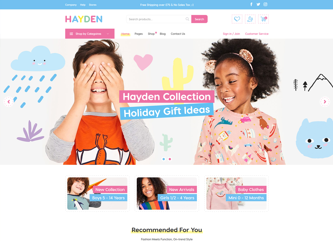 Hayden | Kids Store WooCommerce Theme