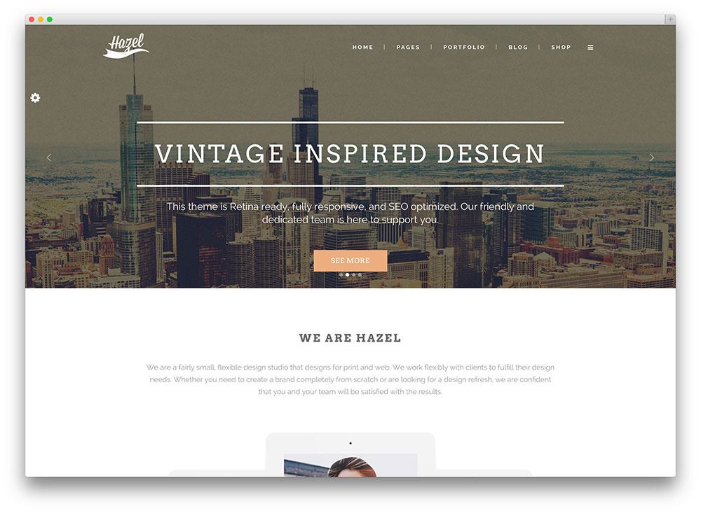 hazel vintage multipurpose wordpress theme