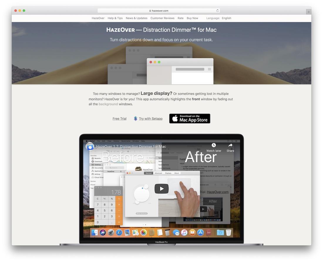 hazeover free productivity tool