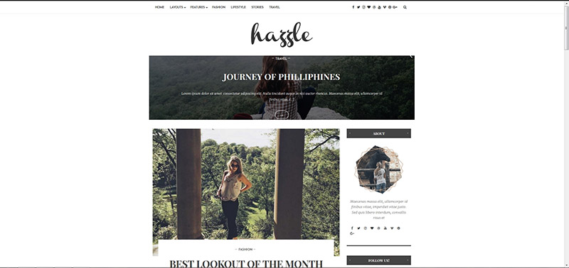 Hazzle - Personal & Travel Blog Theme