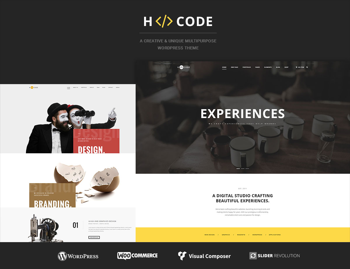hcode wordpress themes for freelancers - Top 20 WordPress Themes for Freelancers, Programmers, Graphics Designers and More 2018