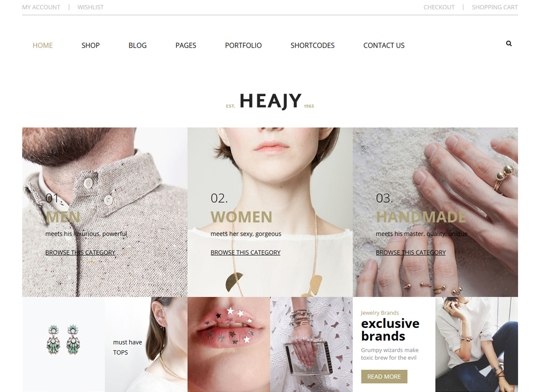Heajy   Handmade Fashion WordPress Theme