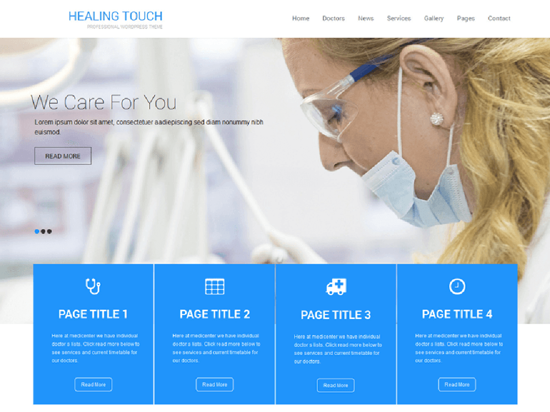 Healing Touch Medical WordPress Theme