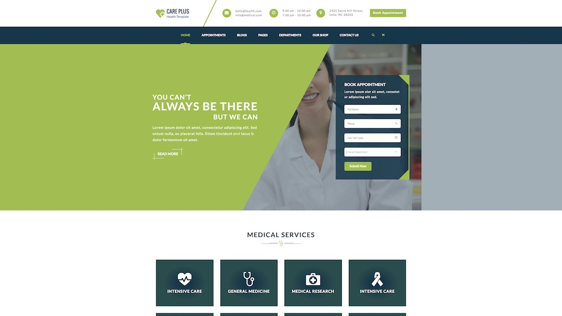 healt careplus website template