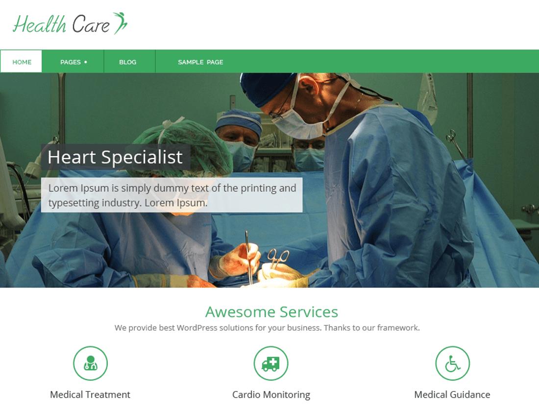 Health Care Medical WordPress Theme