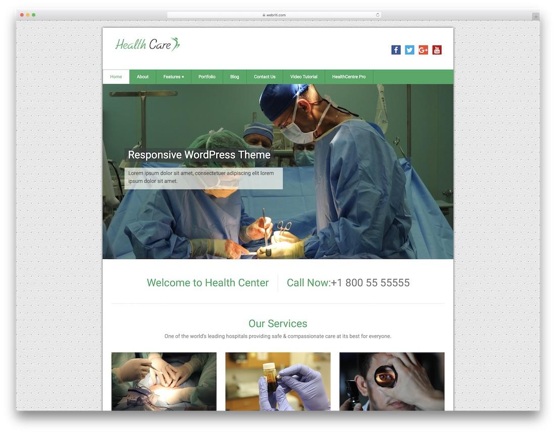 health care free medical wordpress theme