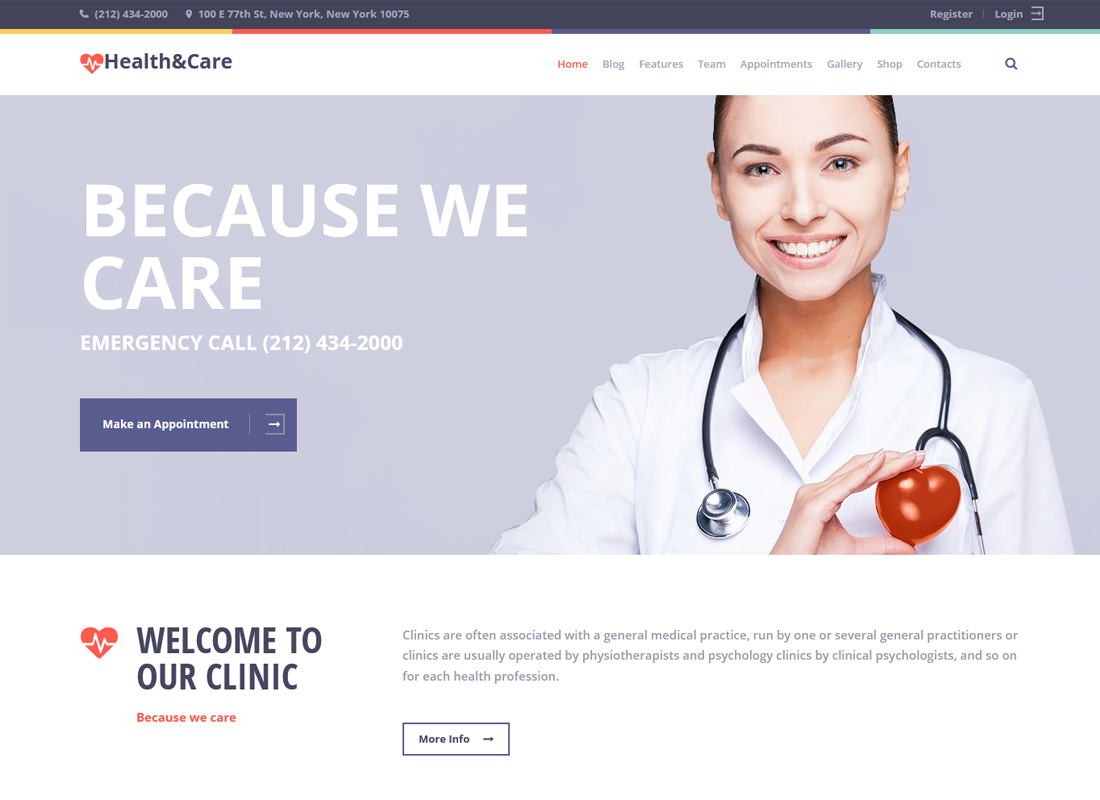 Health & Care | Medical WordPress Theme