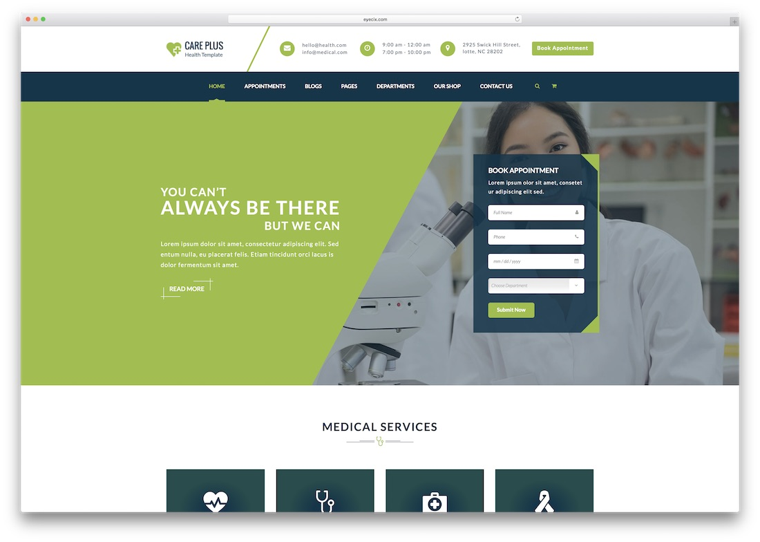 health careplus medical website template