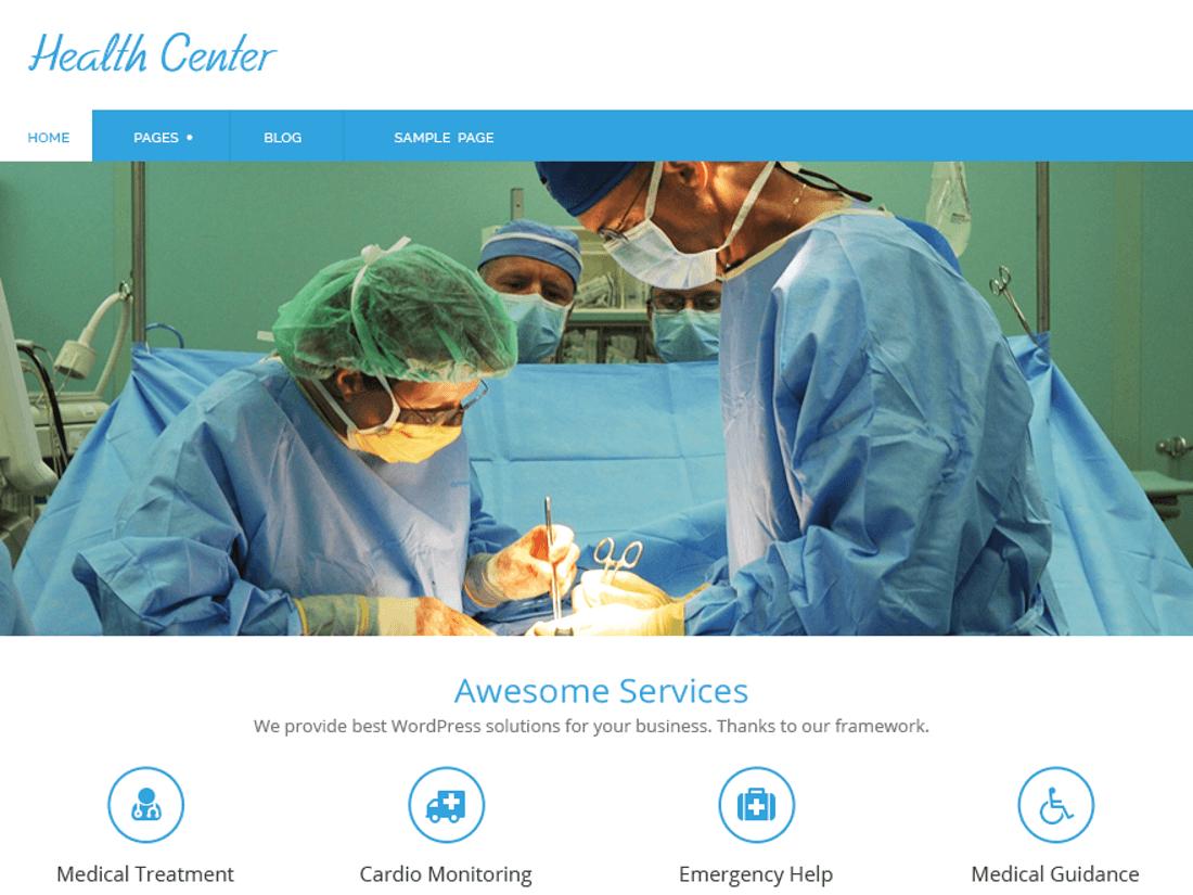 Health Center Lite Medical WordPress Theme