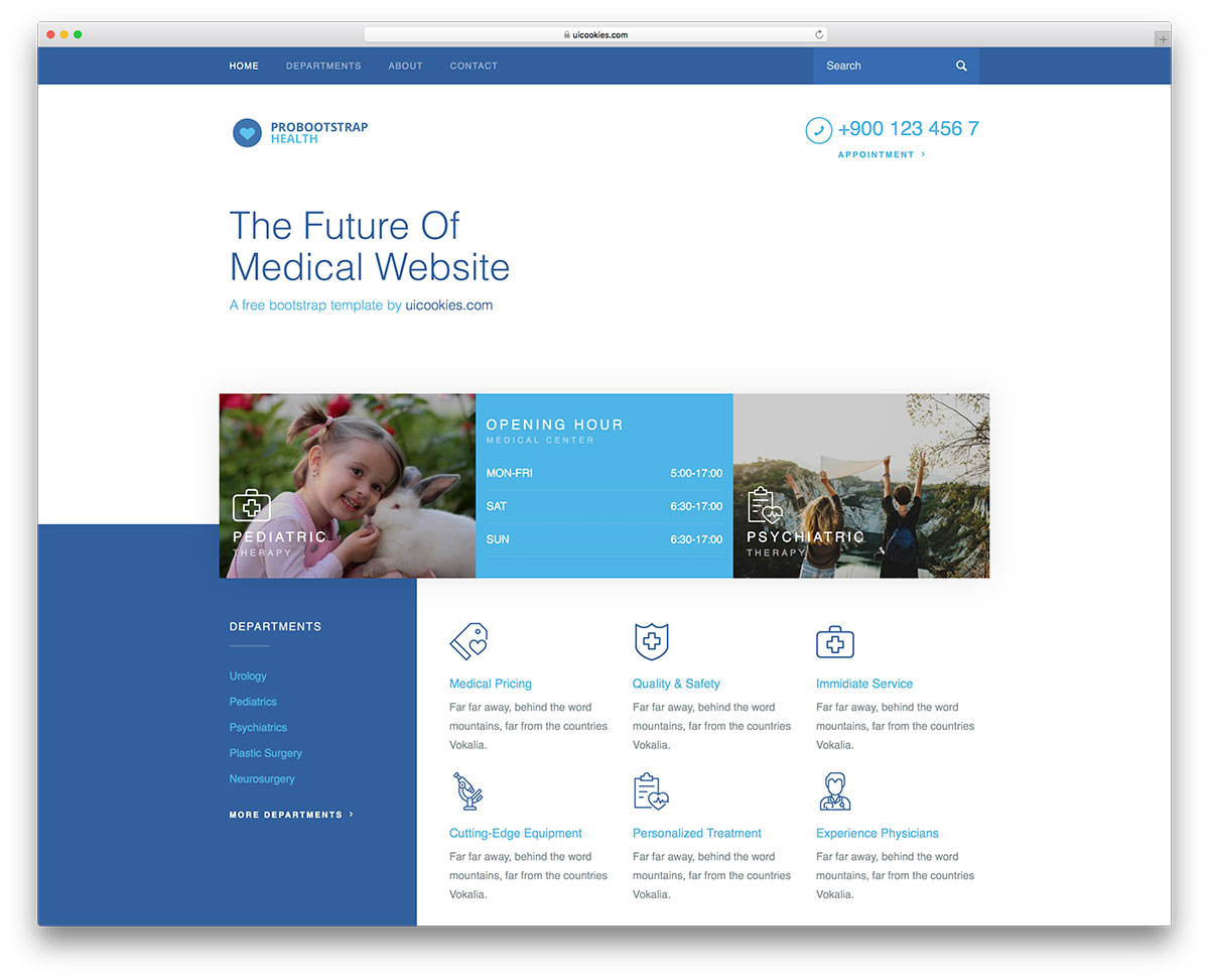 Health Is A Full Width Website Template With Its Bold Texts And Design Layout It Catches The User Attention Easily As Soon They Land On Your Site