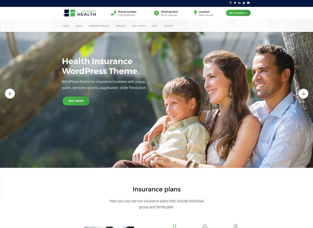 Health Insurance | Insurance WordPress Theme