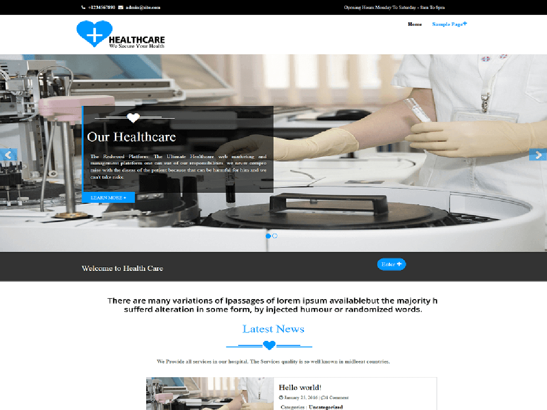 Healthcare Medical WordPress Theme