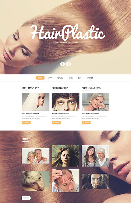 Hair Transplant Clinic WordPress Template