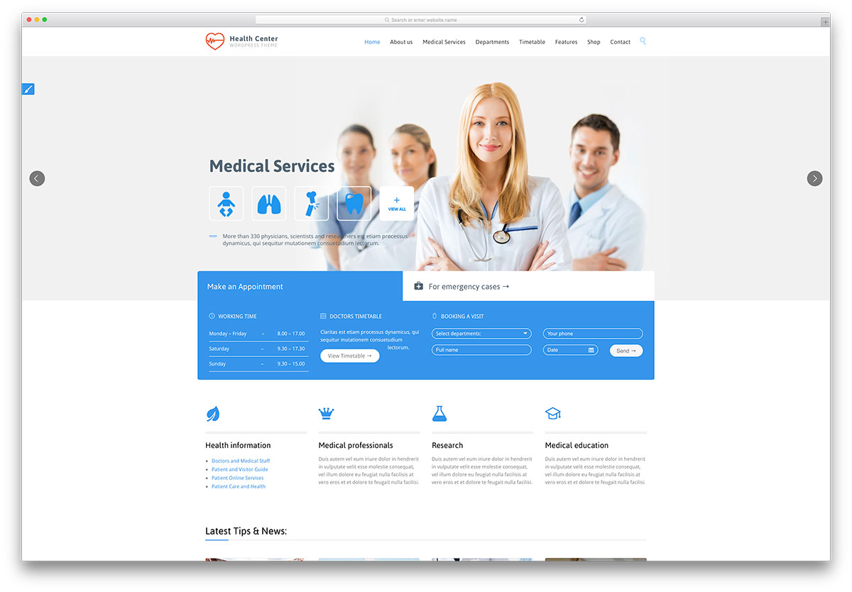 healthcenter-flat-design-wordpress-theme