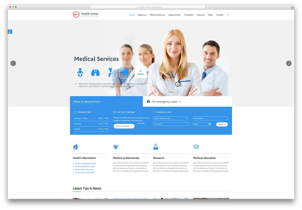 healthcenter-flat-design-wordpress-theme