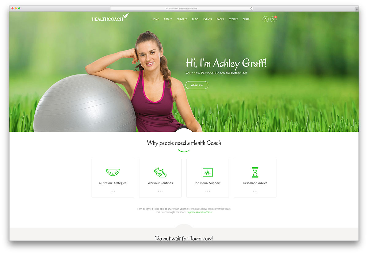 healthcoach-sports-website-template