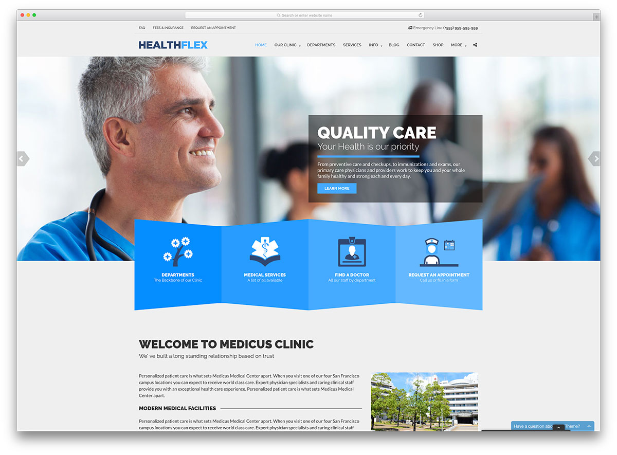 HEALTHFLEX Medical Health WordPress Theme images