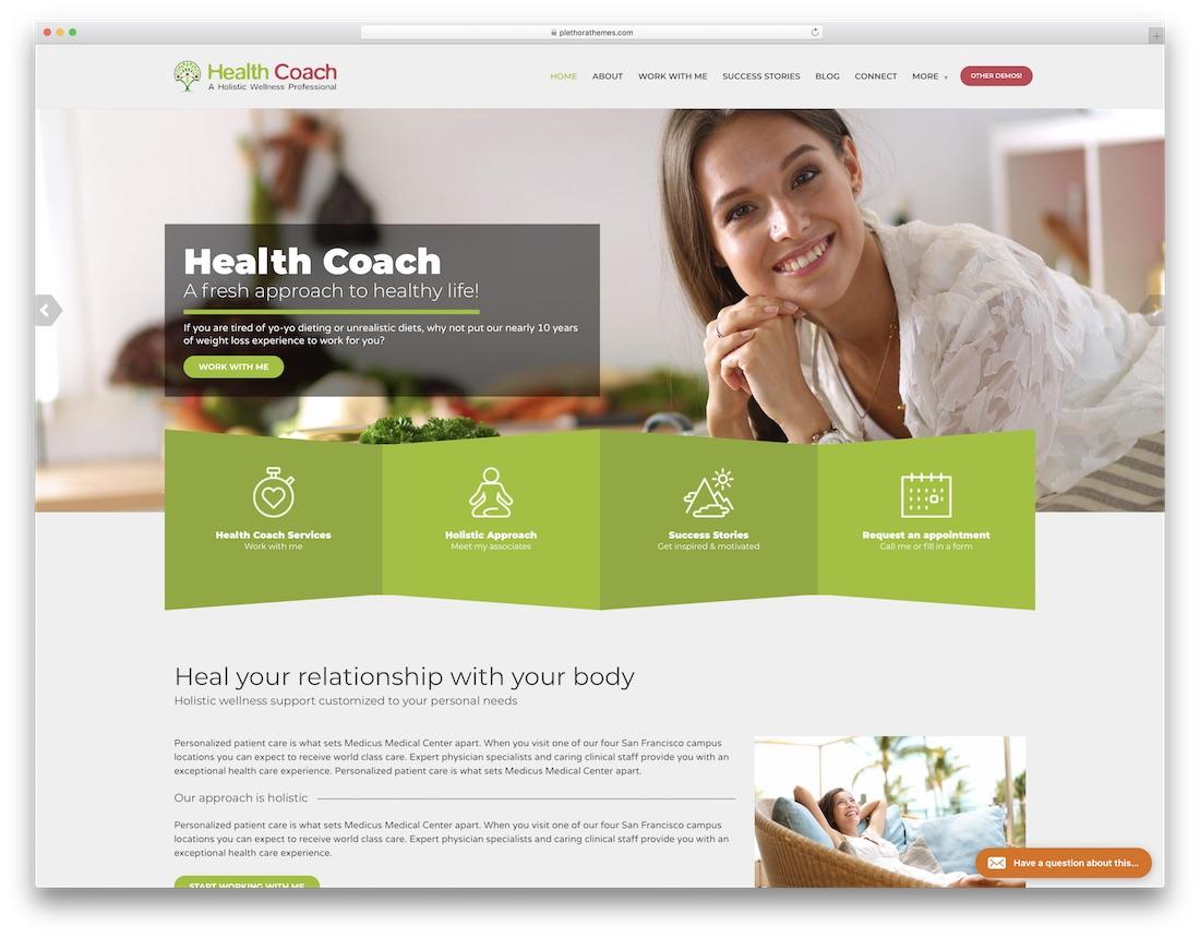 healthflex physiotherapy chiropractor wordpress theme