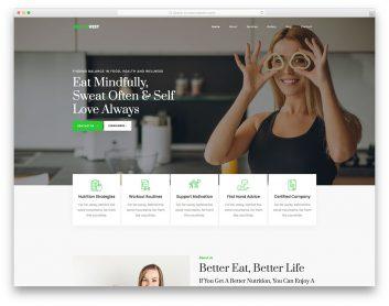 Healthvest Free Template