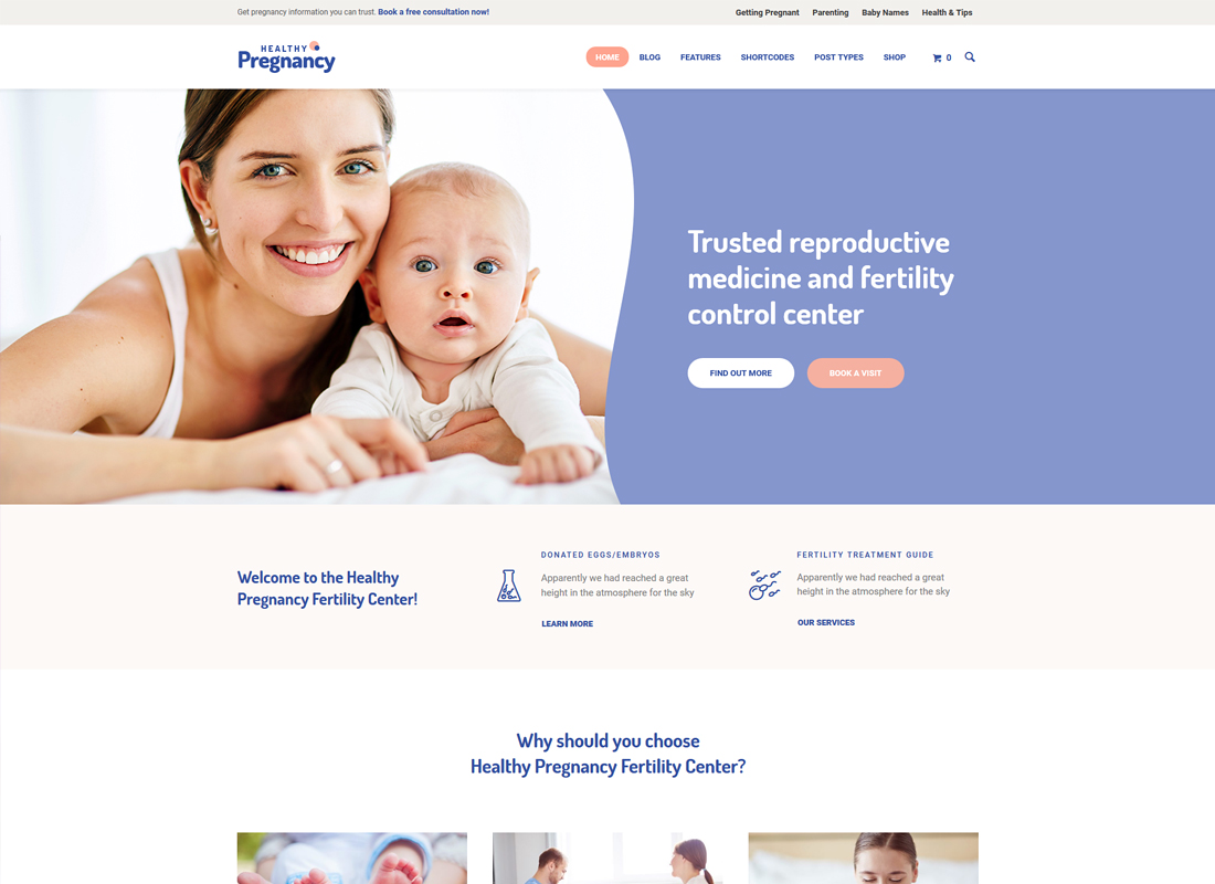 Healthy Pregnancy | Health & Medical WordPress Theme