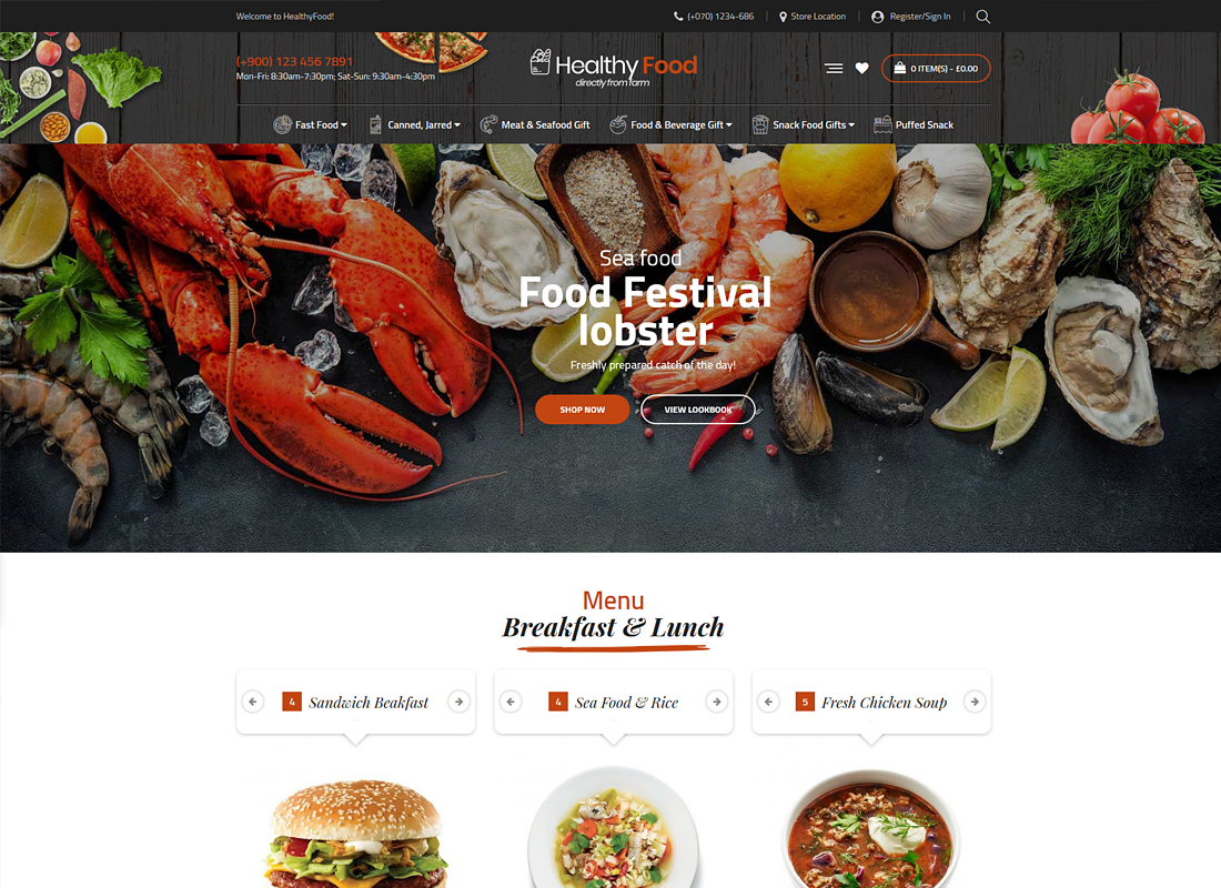 HealthyFood | Multipurpose WooCommerce Theme (RTL Supported)