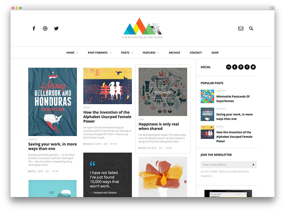 heap masonry blog theme