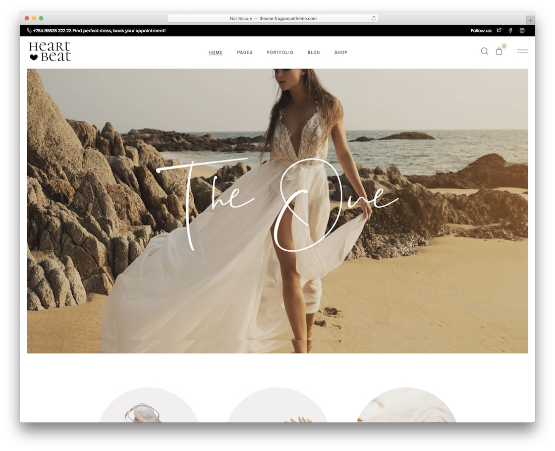 heartbeat bridal wordpress theme