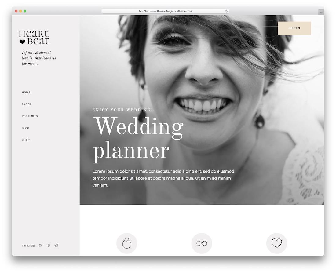 heartbeat event planner wordpress theme
