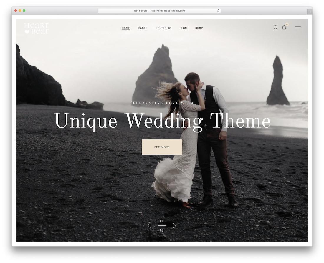 heartbeat wedding website template