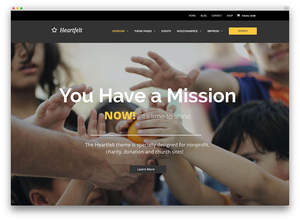 heartfelt just multipurpose church theme