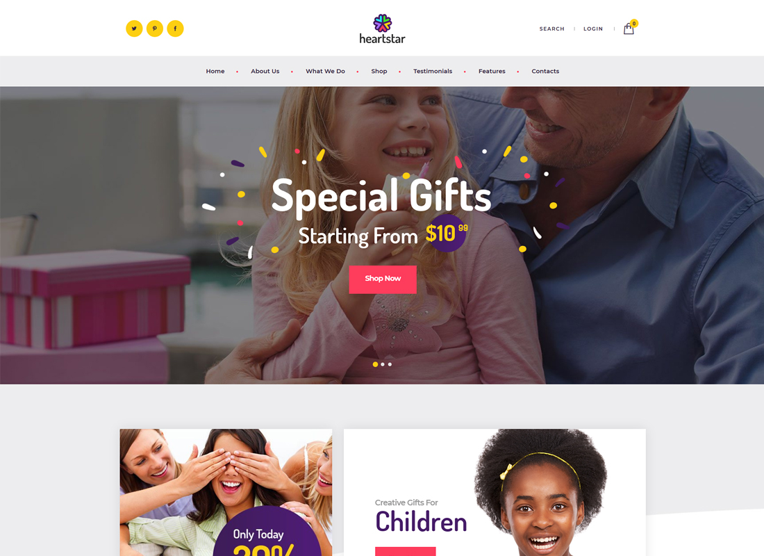 HeartStar - Gift Shop & Event WordPress Theme