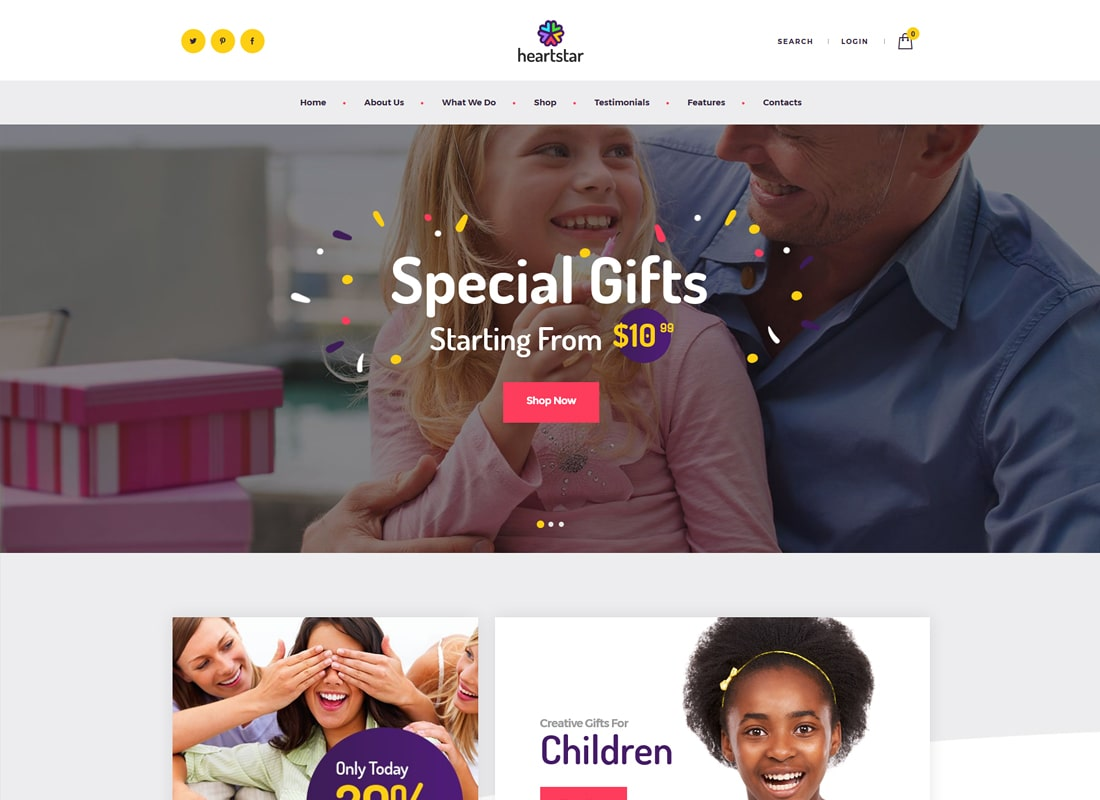 HeartStar | Gift Shop & Event WordPress Theme