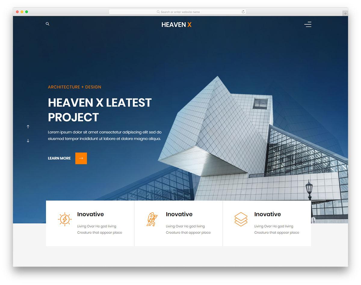 Скачать бесплатно html шаблон Heaven