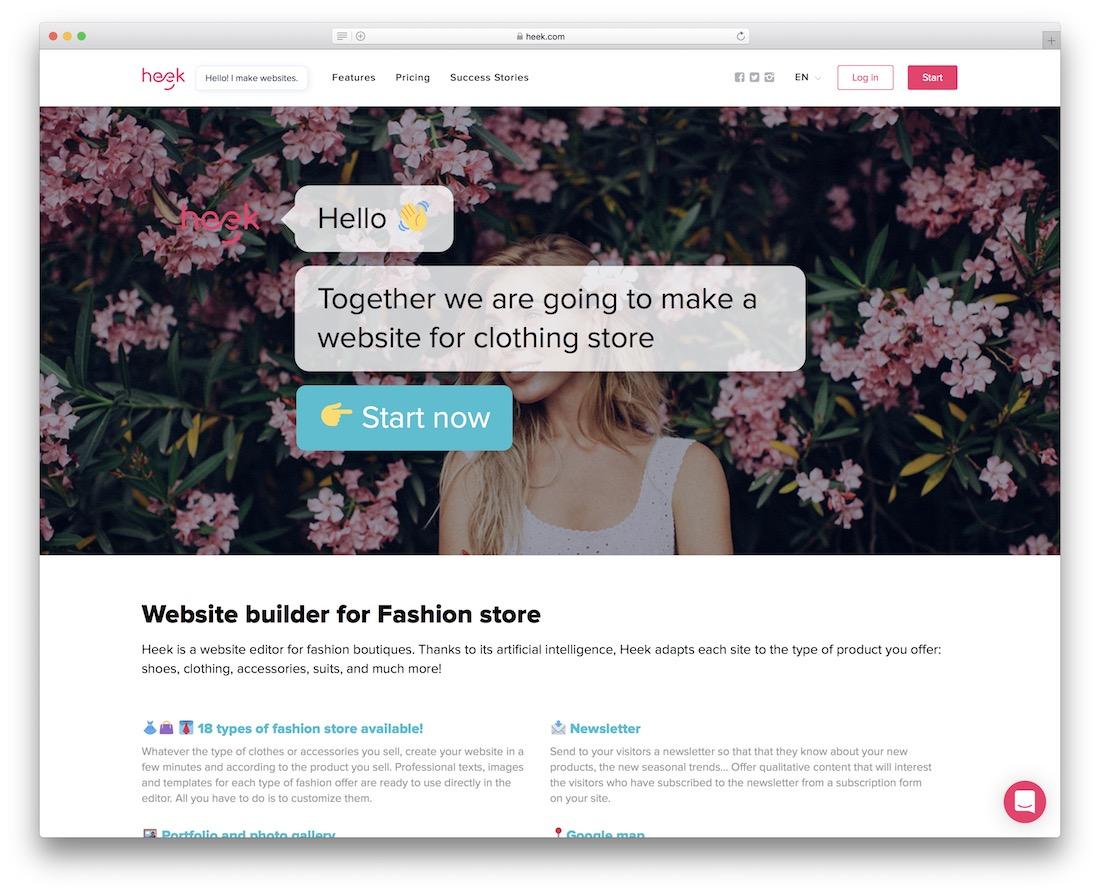 heek apparel website builder