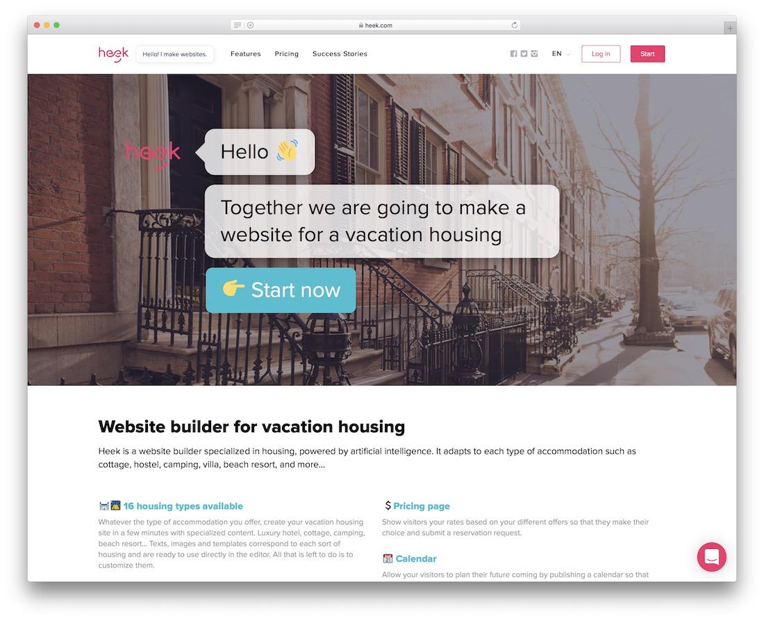 heek hotel website builder