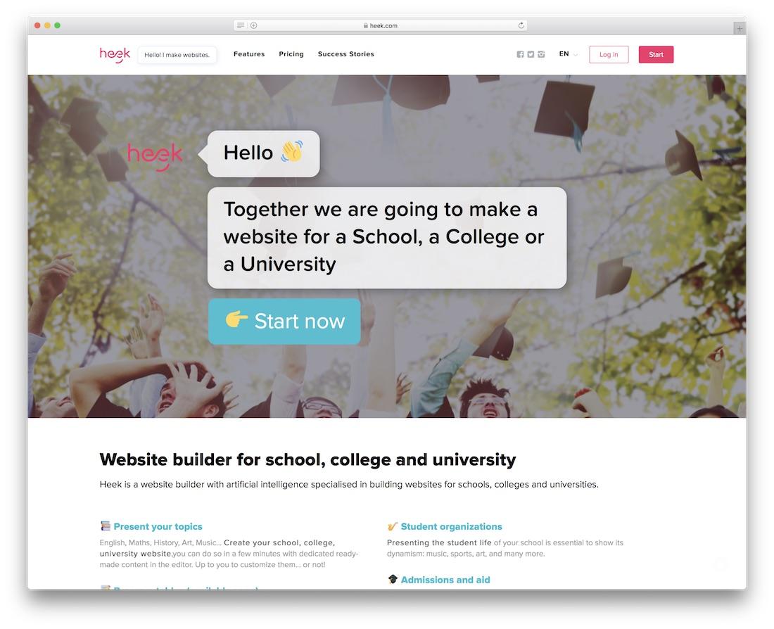 heek school and teacher website builder