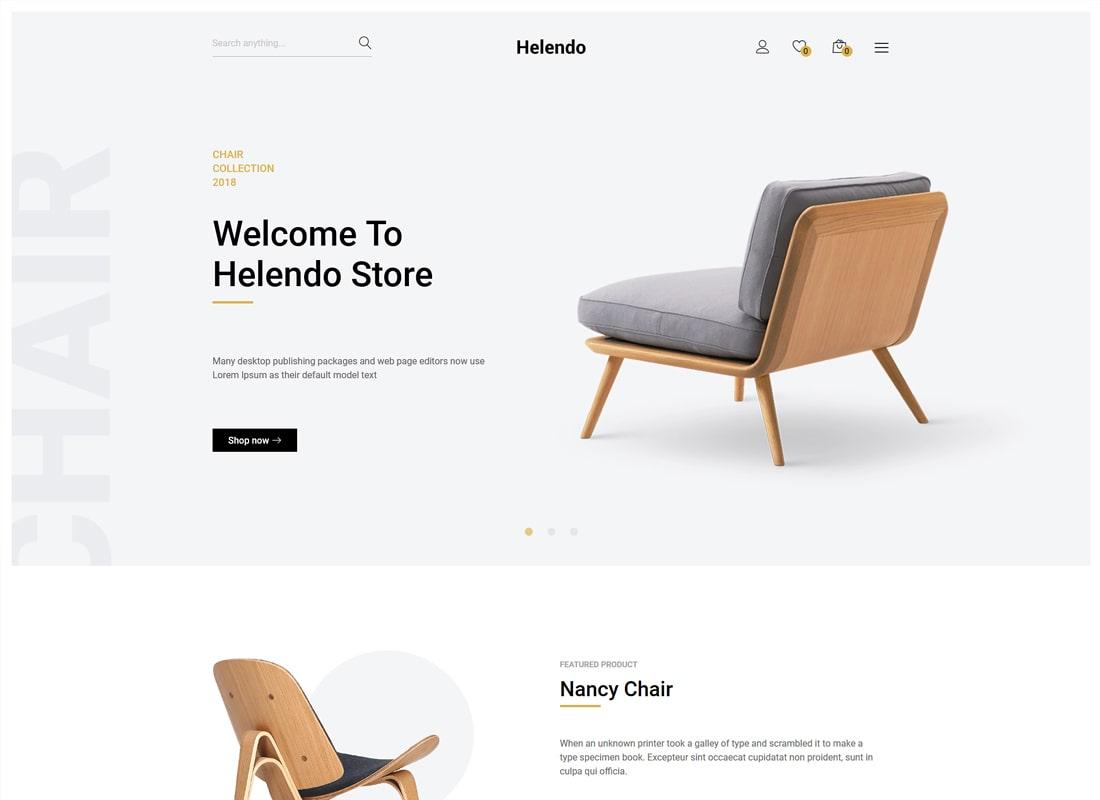 Helendo | Furniture eCommerce WordPress Theme