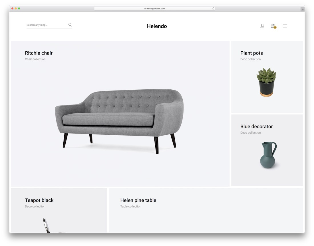 helendo furniture wordpress theme