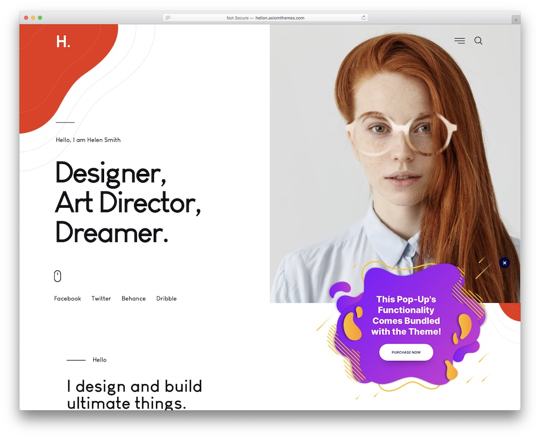 helion vcard wordpress theme