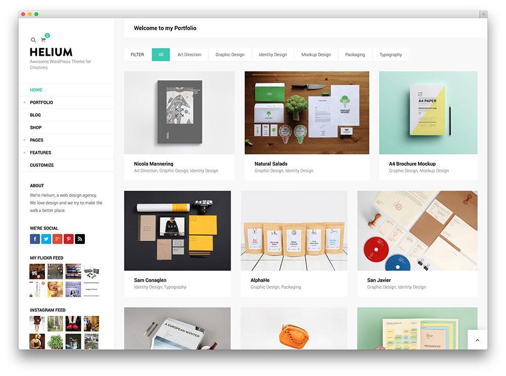 20 Brilliant WordPress Themes for Designers 2017 - colorlib